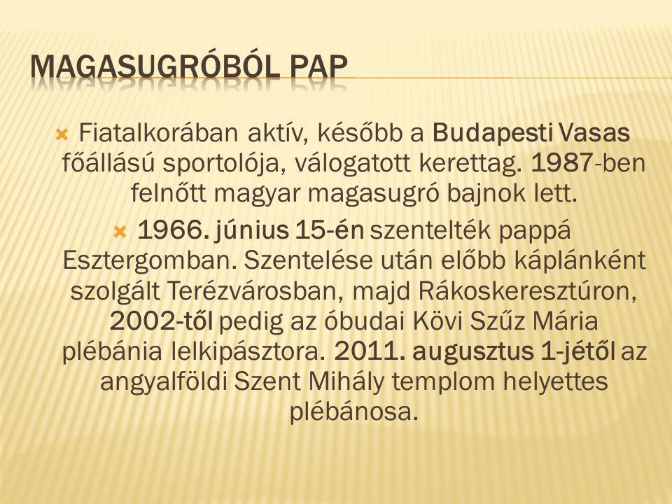  Fiatalkorában aktív, később a Budapesti Vasas főállású sportolója, válogatott kerettag.