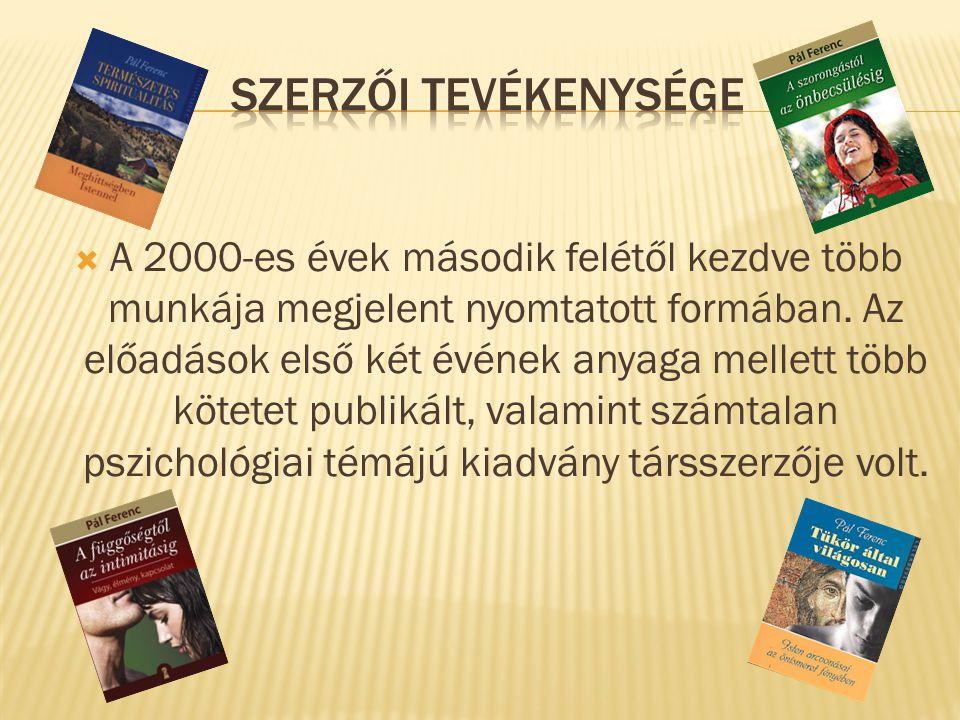  A 2000-es évek második felétől kezdve több munkája megjelent nyomtatott formában.