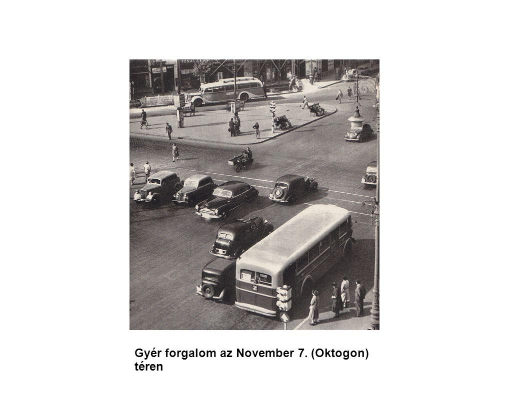 Gyér forgalom az November 7. (Oktogon) téren