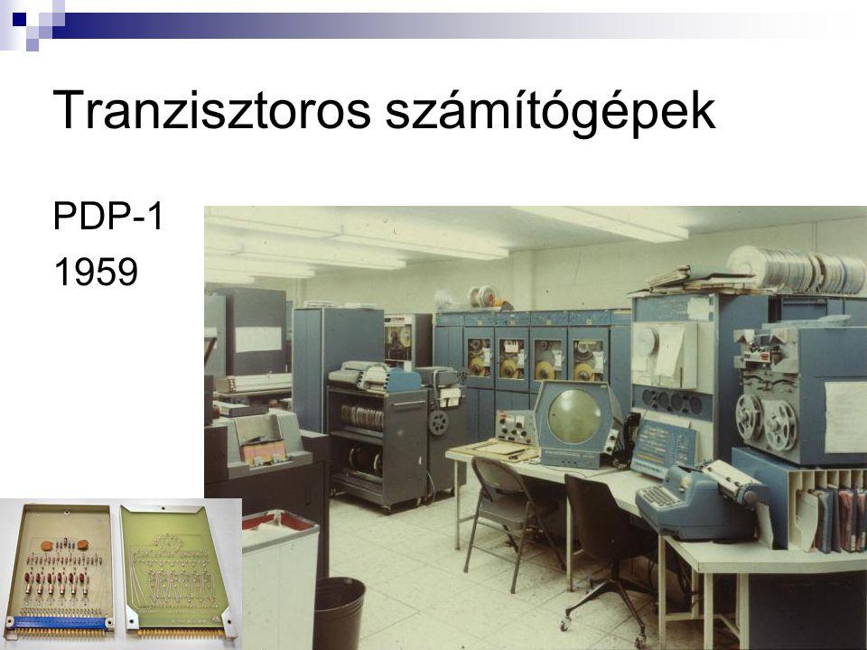 Tranzisztoros számítógépek PDP-1 1959