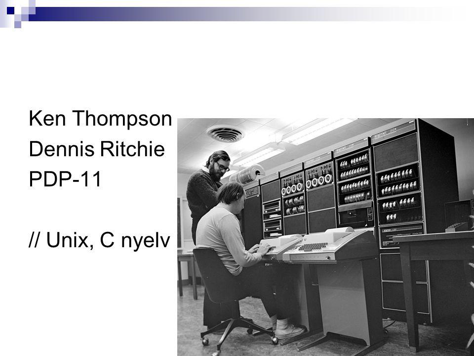 Ken Thompson Dennis Ritchie PDP-11 // Unix, C nyelv