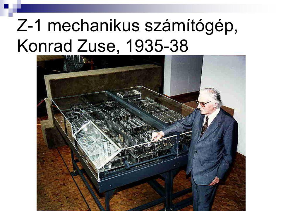 Z-1 mechanikus számítógép, Konrad Zuse, 1935-38