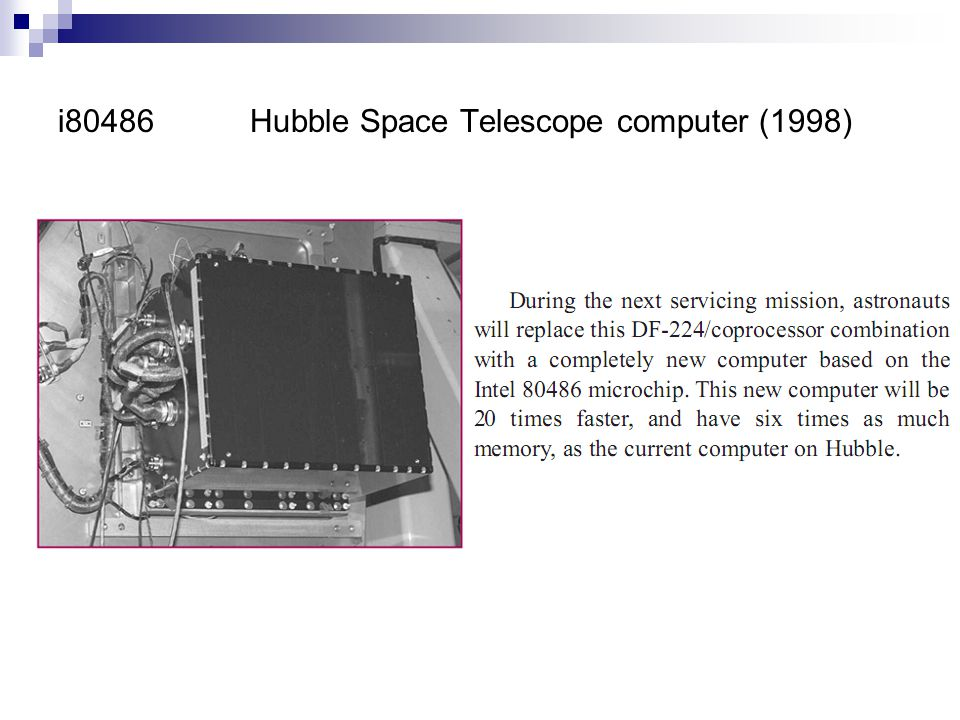 i80486Hubble Space Telescope computer (1998)