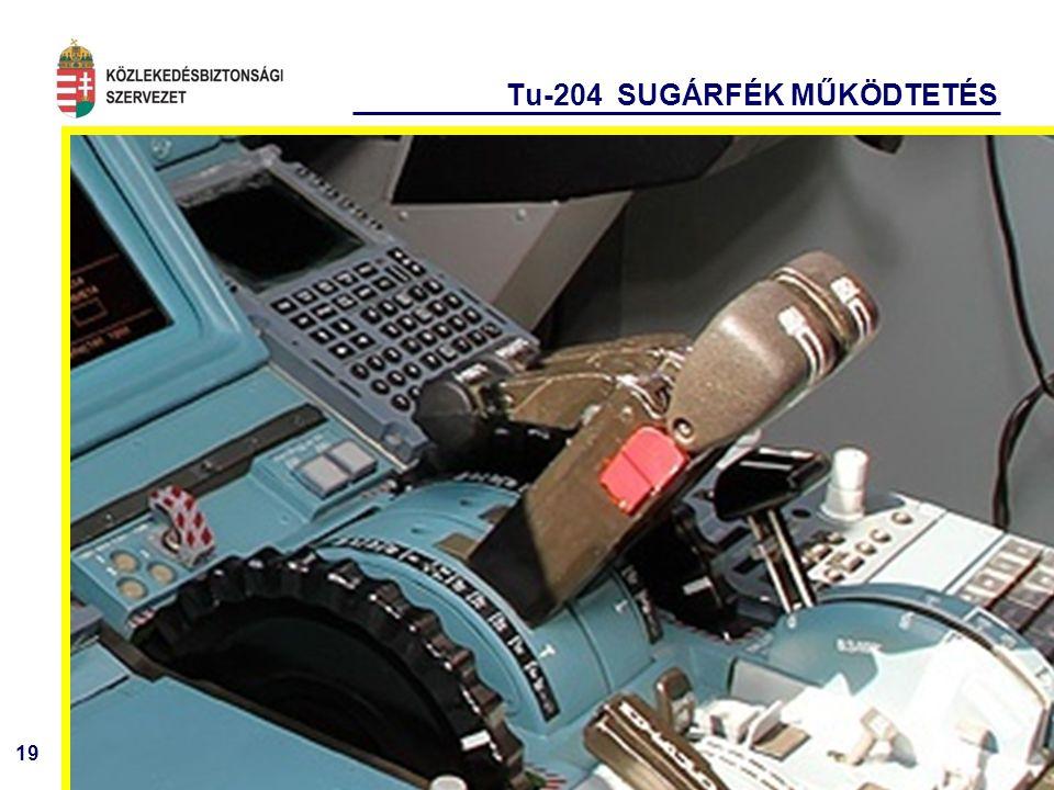 19 Tu-204 SUGÁRFÉK MŰKÖDTETÉS
