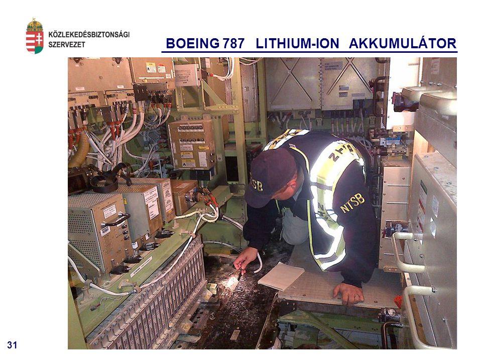 31 BOEING 787 LITHIUM-ION AKKUMULÁTOR