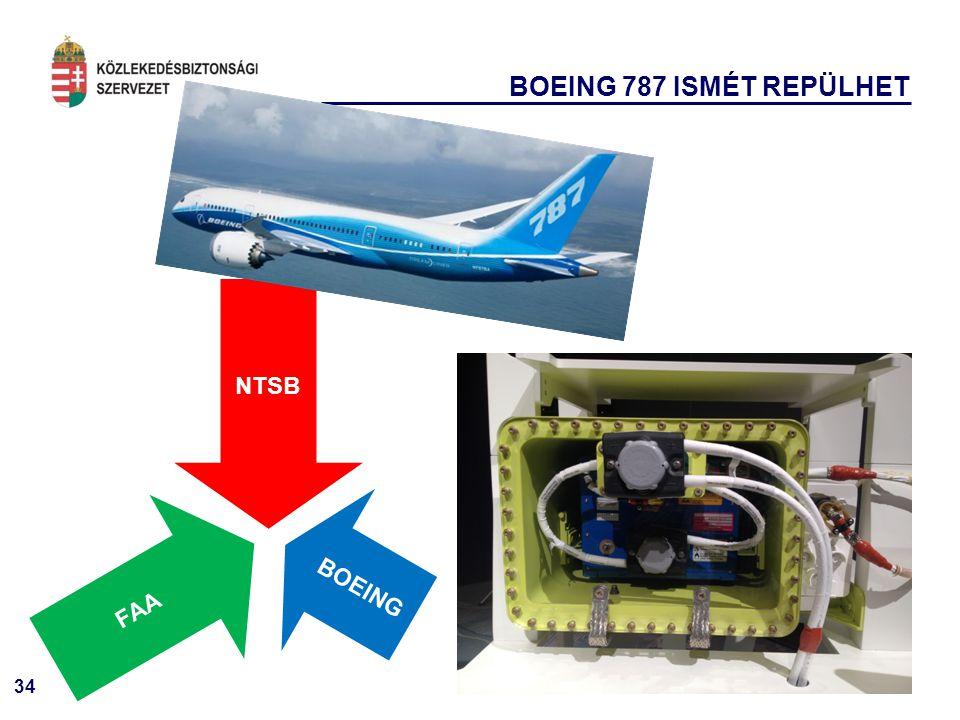 34 BOEING 787 ISMÉT REPÜLHET NTSB BOEING FAA