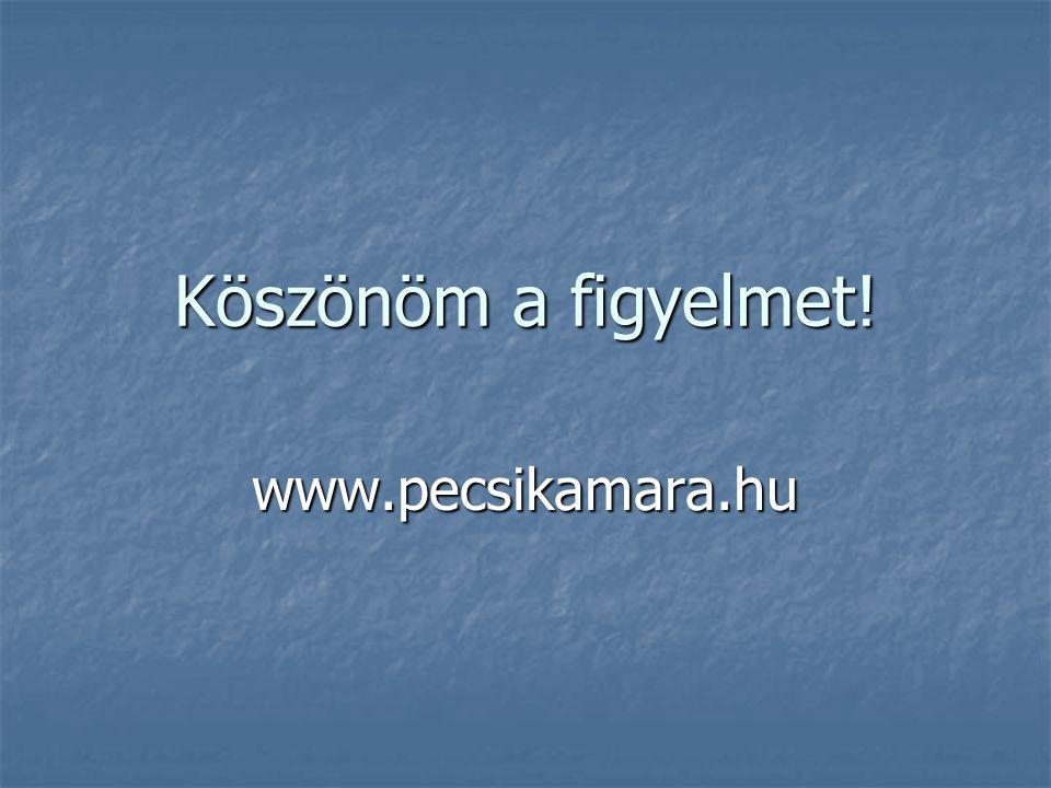 Köszönöm a figyelmet! www.pecsikamara.hu
