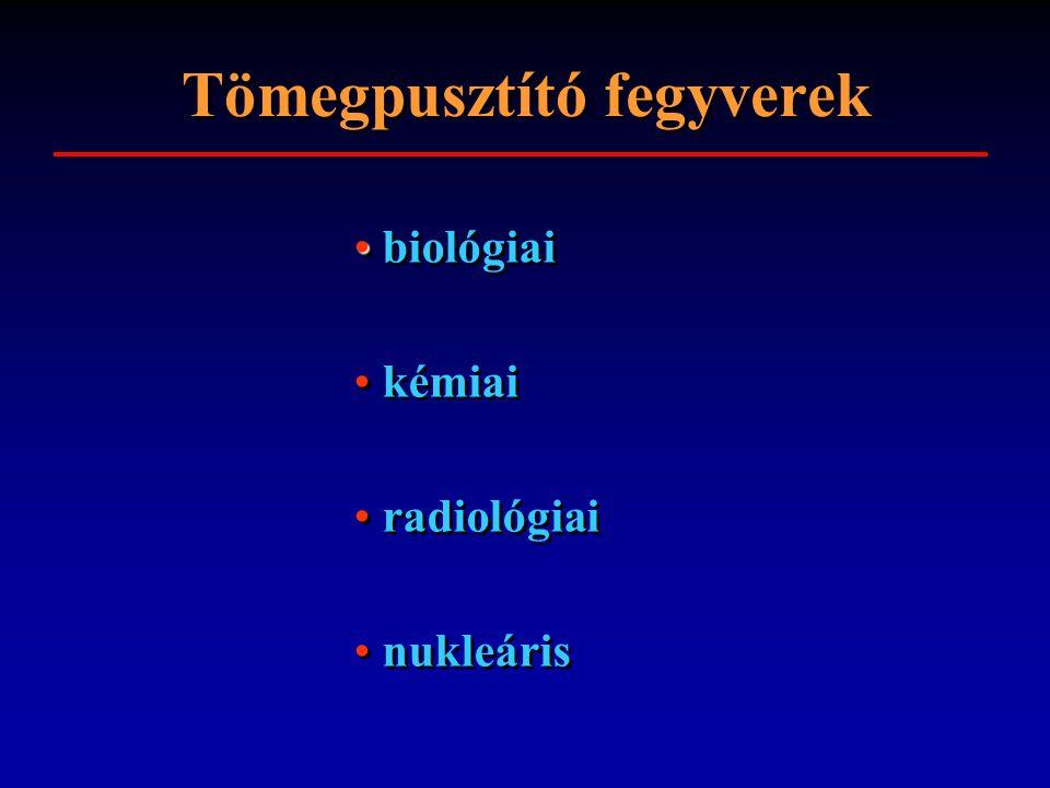 Tömegpusztító fegyverek biológiai kémiai radiológiai nukleáris biológiai kémiai radiológiai nukleáris