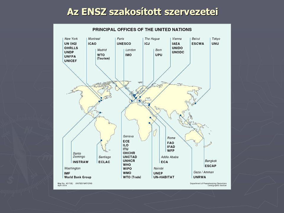 Az ENSZ szakosított szervezetei