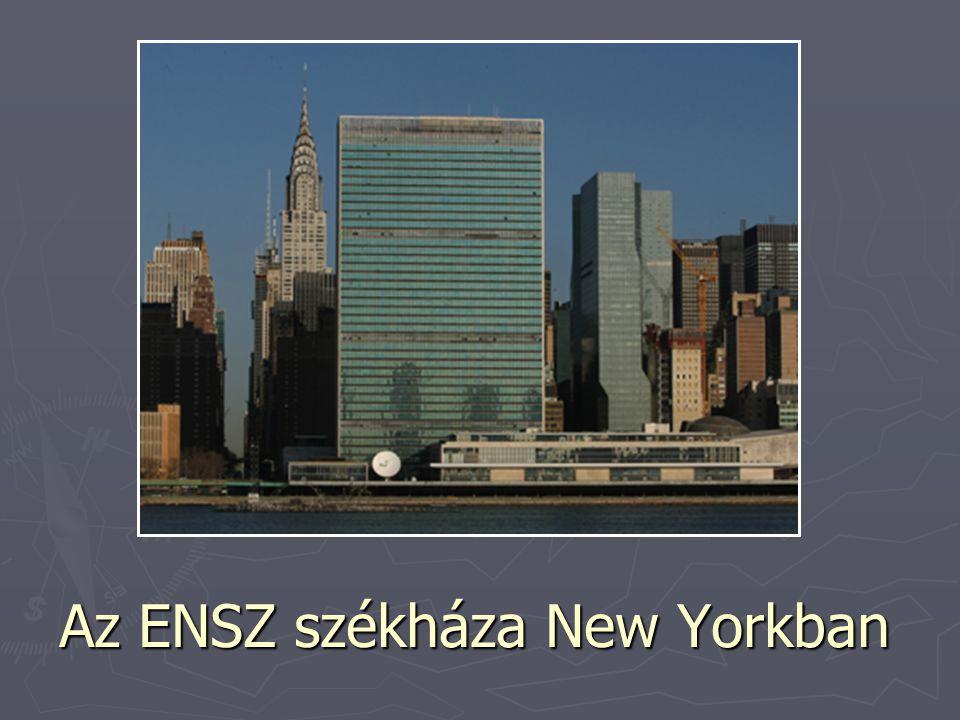 Az ENSZ székháza New Yorkban