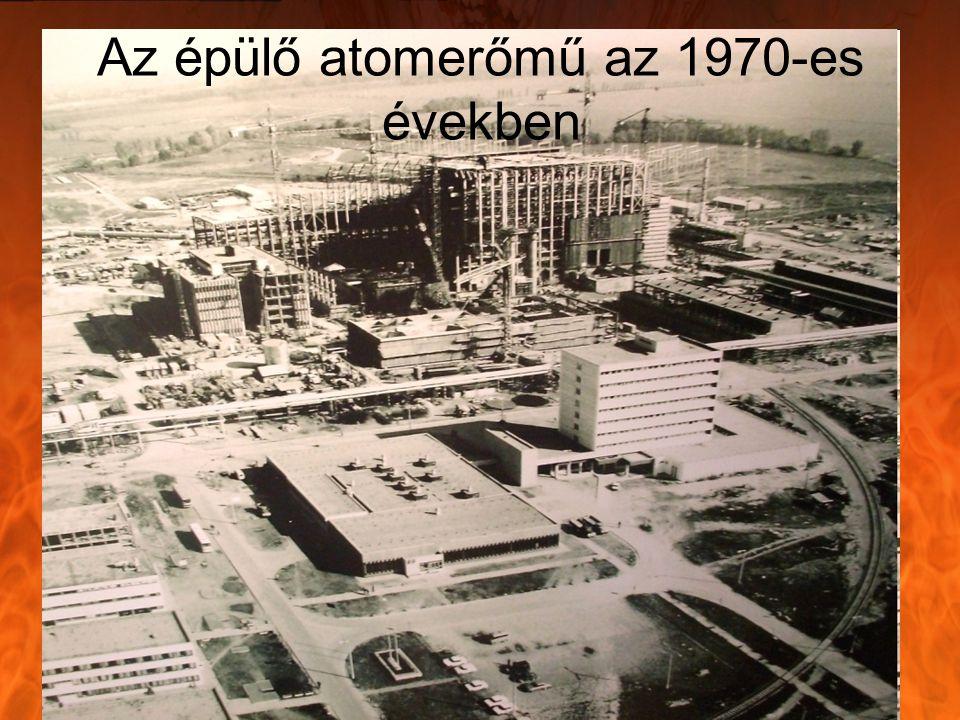 Az épülő atomerőmű az 1970-es években