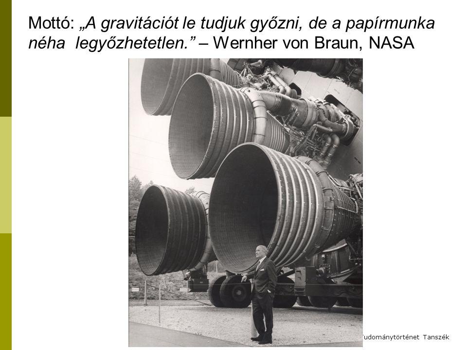 """Mottó: """"A gravitációt le tudjuk győzni, de a papírmunka néha legyőzhetetlen. – Wernher von Braun, NASA A Gólem – BME Filozófia és Tudománytörténet Tanszék"""