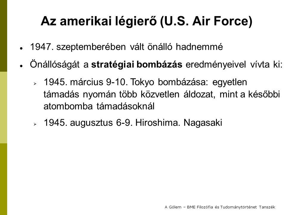 """Ezzel a korábbiakhoz hasonlóan együtt járt a Légierővel való közvetlen konfliktus:  Az SLMB-ek célja a """"végső elrettentés volt;  A tervezett rakéta felvállalt szerepe: csapásmérő eszköz  ilyenekkel eddig csak a Légierő rendelkezett; Az adott nemzetközi és belpolitikai helyzetben azonban újabb nukleáris """"csapásmérő eszköz fejlesztésének elindítása elfogadhatatlan volt; A projektet a Szenátus leállította… A Gólem – BME Filozófia és Tudománytörténet Tanszék A Trident C3 kudarca"""