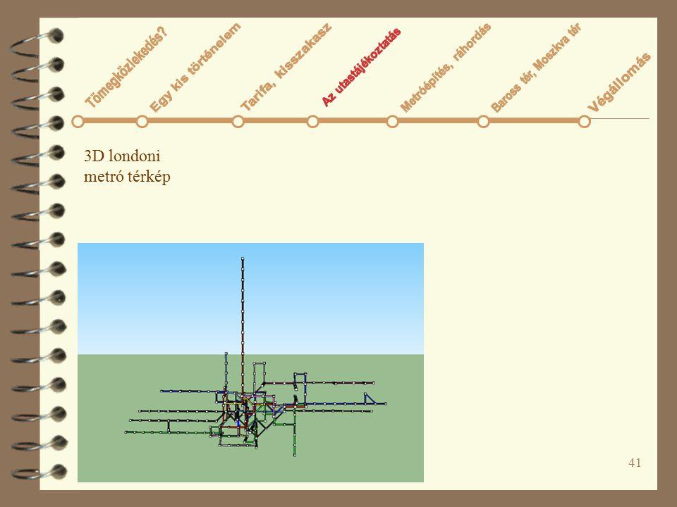 41 3D londoni metró térkép