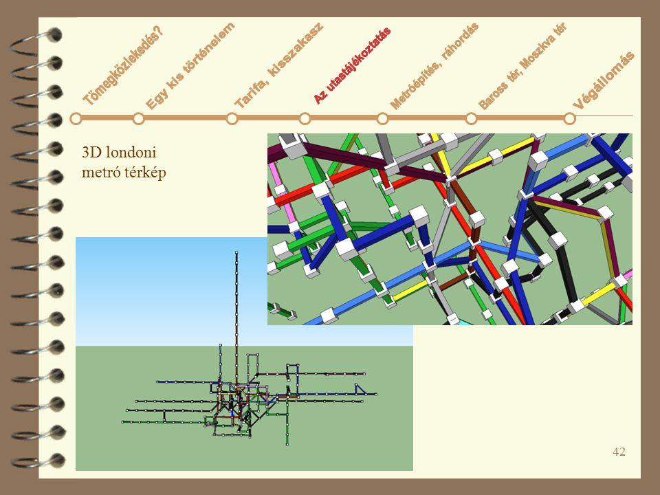 42 3D londoni metró térkép