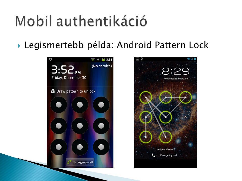  Legismertebb példa: Android Pattern Lock