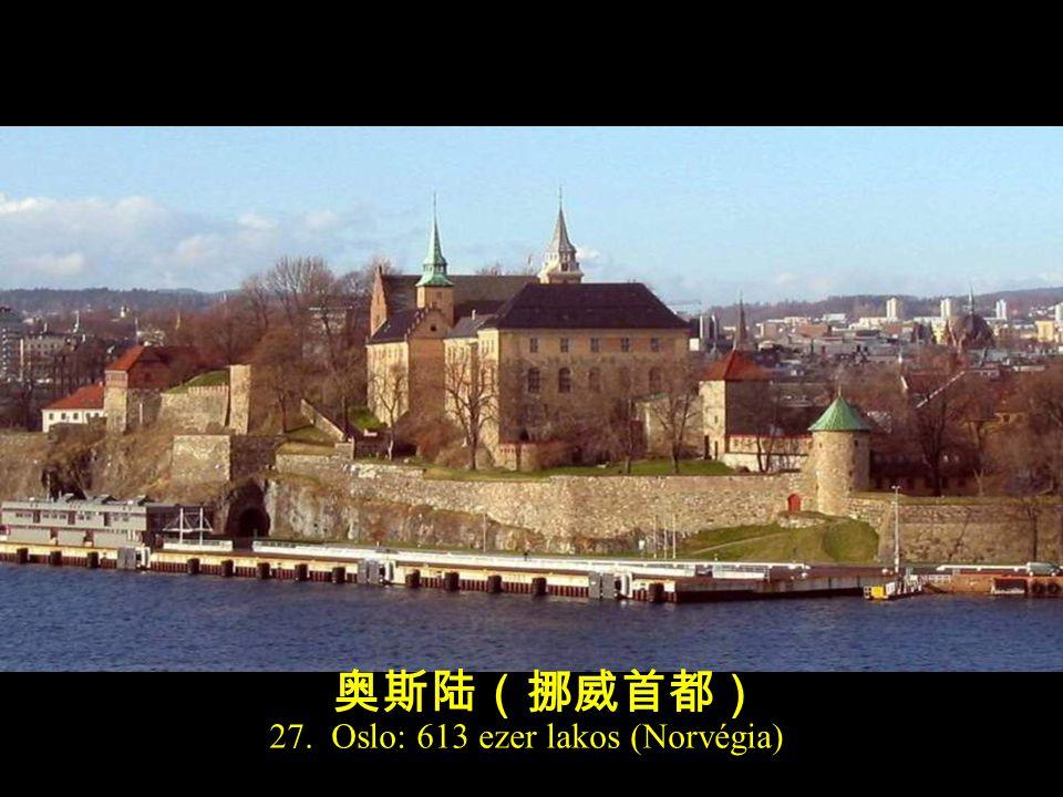 28. Helsinki: 596 ezer lakos (Finnország) 赫尔辛基(芬兰首都)