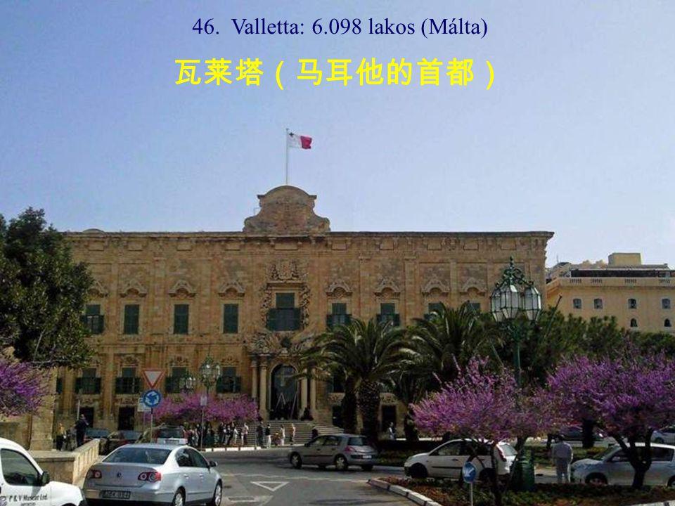 46. Valletta: 6.098 lakos (Málta) 瓦莱塔(马耳他的首都)