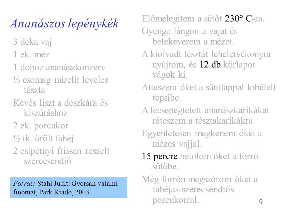 20 Szubrutin: példa szubrutin Vezess_az_ELTÉre { 1.