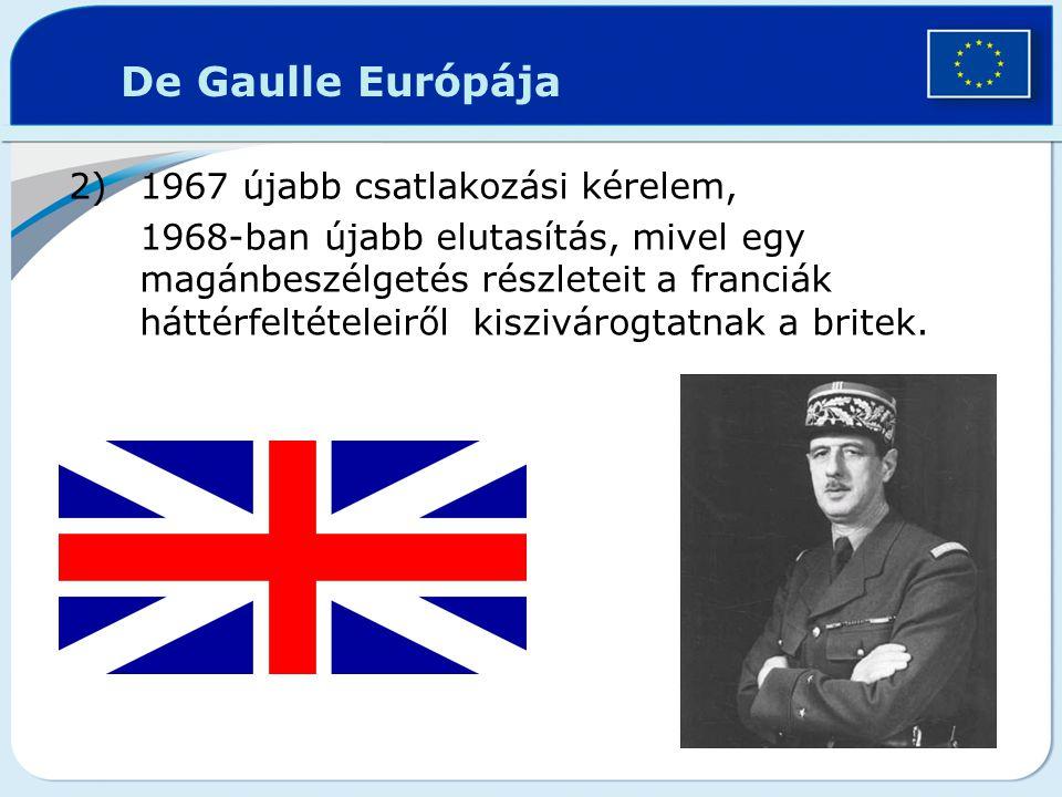 2)1967 újabb csatlakozási kérelem, 1968-ban újabb elutasítás, mivel egy magánbeszélgetés részleteit a franciák háttérfeltételeiről kiszivárogtatnak a