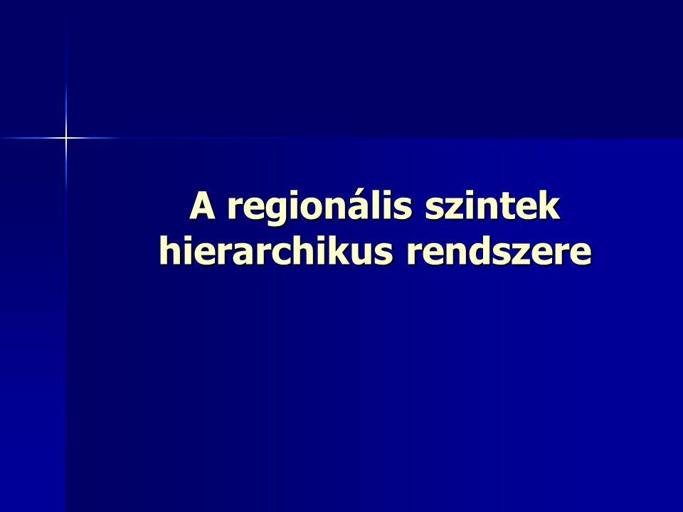 A regionális szintek hierarchikus rendszere