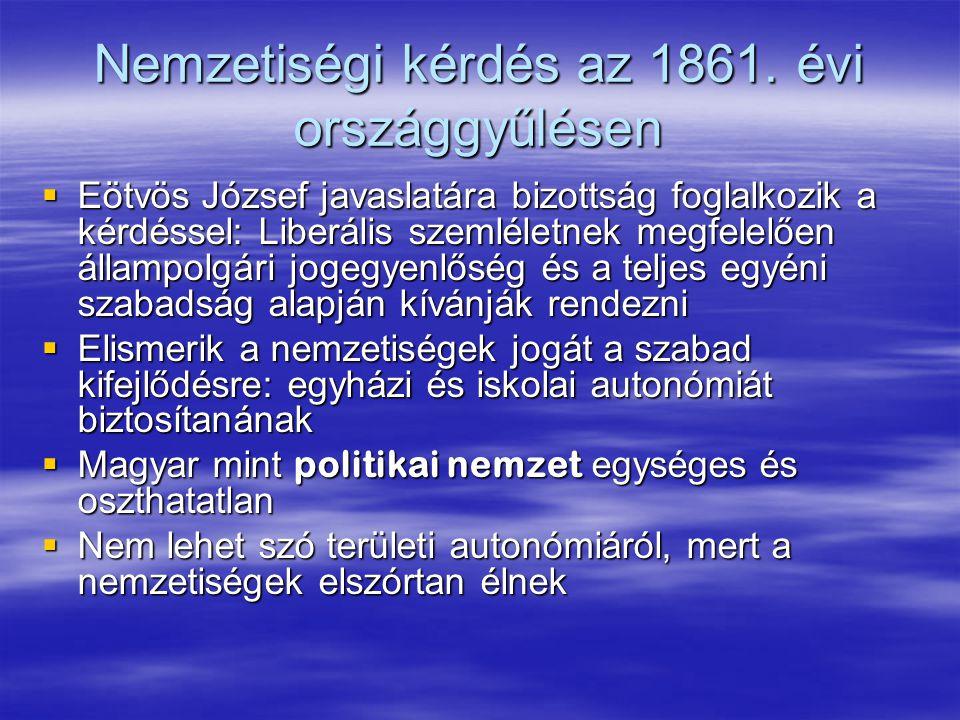 Nemzetiségi kérdés az 1861.