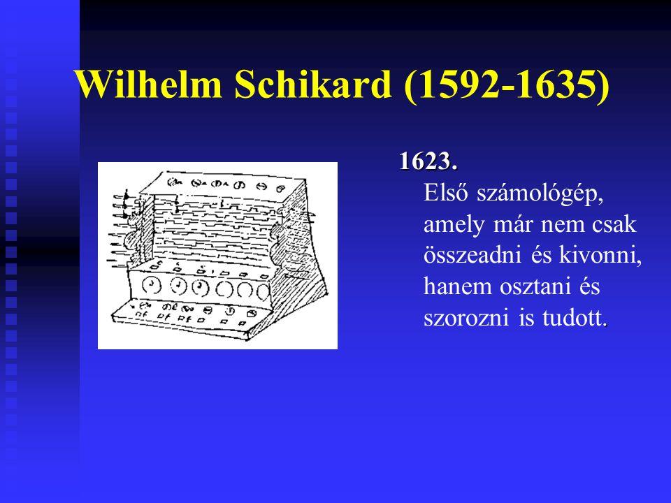Wilhelm Schikard (1592-1635) 1623.