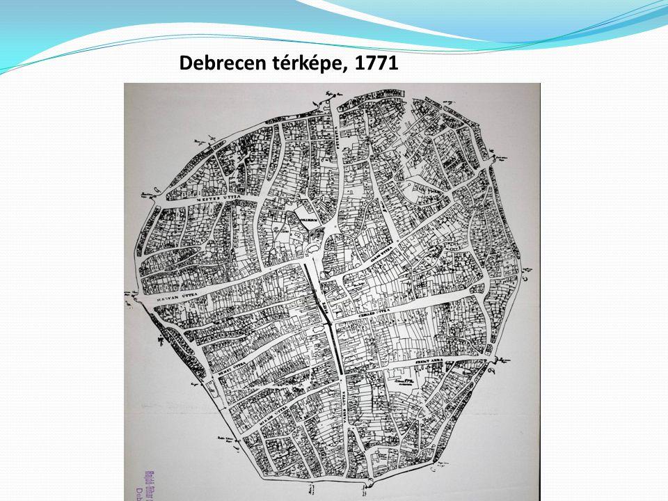 Debrecen térképe, 1771