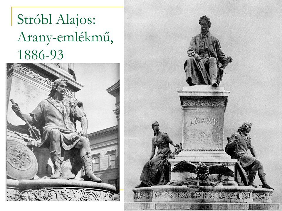 Stróbl Alajos: Arany-emlékmű, 1886-93