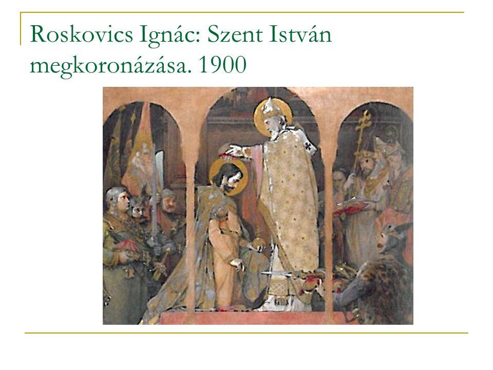 Roskovics Ignác: Szent István megkoronázása. 1900