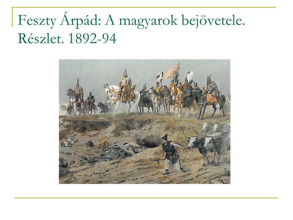 Feszty Árpád: A magyarok bejövetele. Részlet. 1892-94