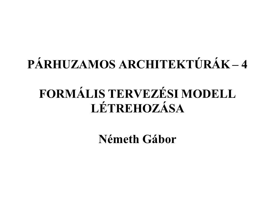 PÁRHUZAMOS ARCHITEKTÚRÁK – 4 FORMÁLIS TERVEZÉSI MODELL LÉTREHOZÁSA Németh Gábor