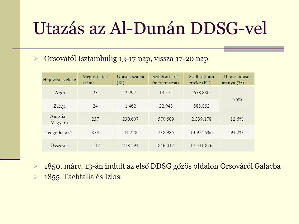 Utazás az Al-Dunán DDSG-vel  Orsovától Isztambulig 13-17 nap, vissza 17-20 nap  1850.