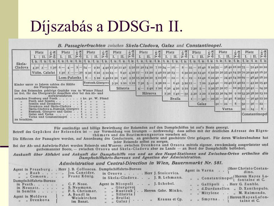 Díjszabás a DDSG-n II.