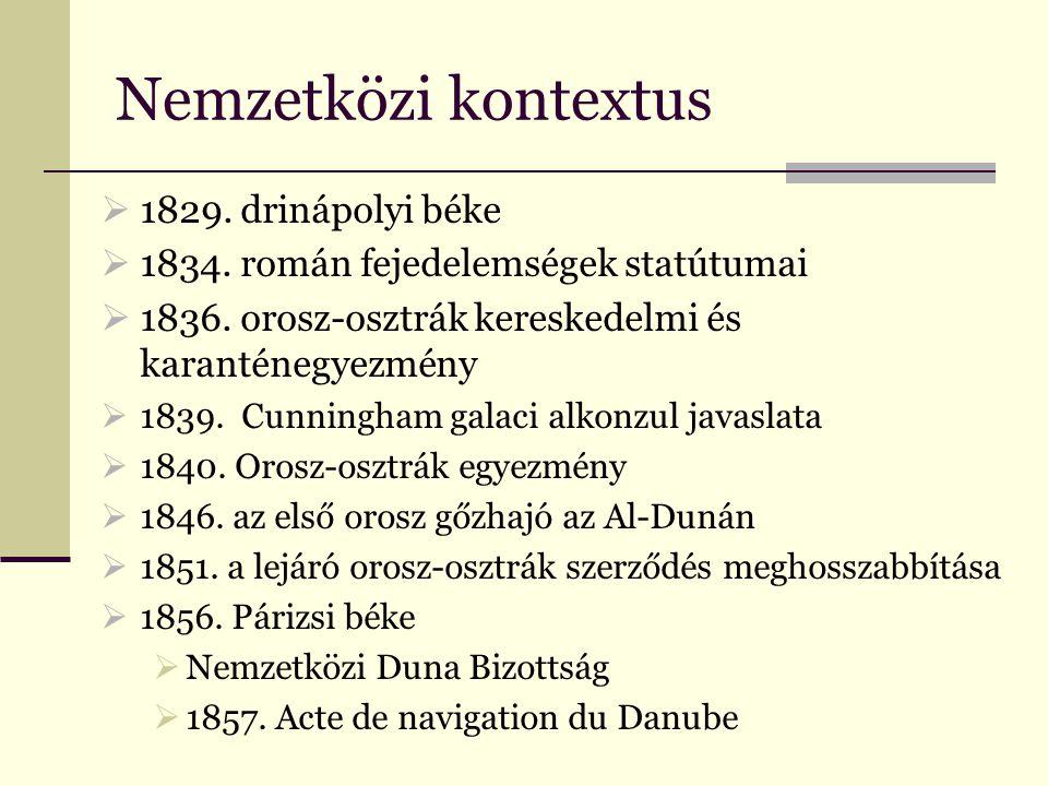 Nemzetközi kontextus  1829. drinápolyi béke  1834.