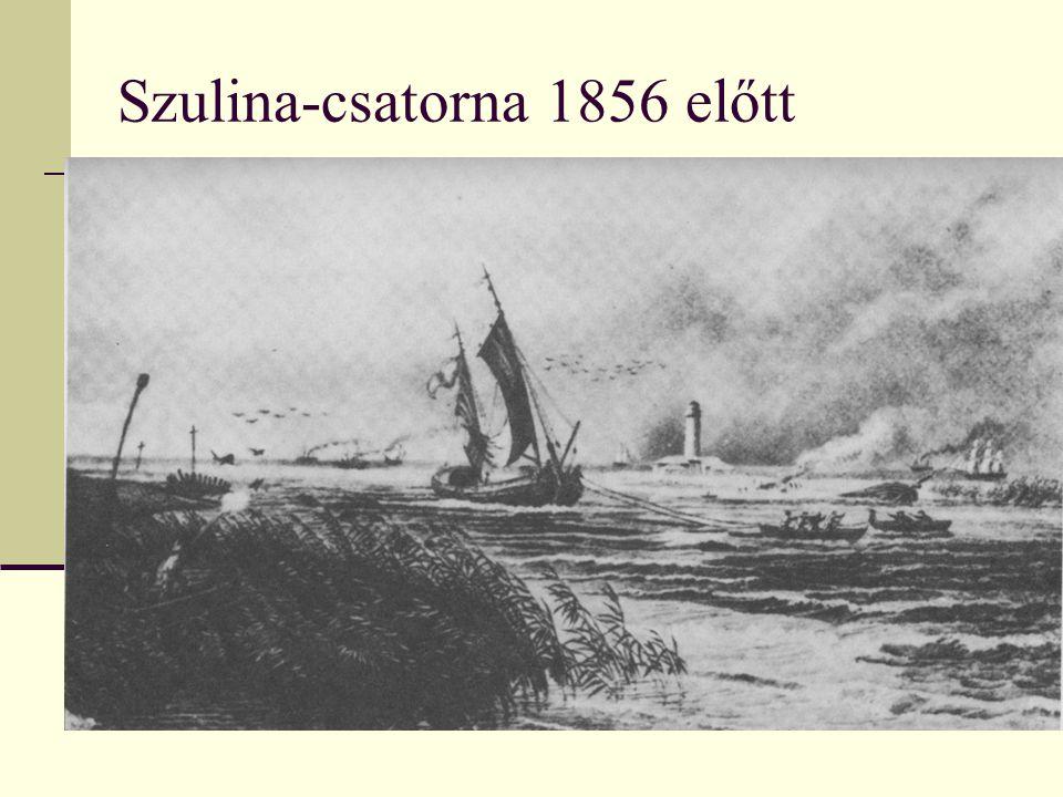 Szulina-csatorna 1856 előtt