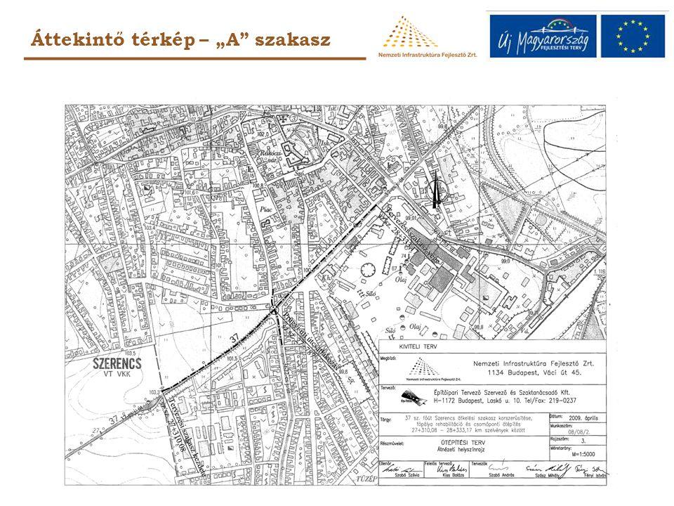 """Áttekintő térkép – """"A szakasz"""