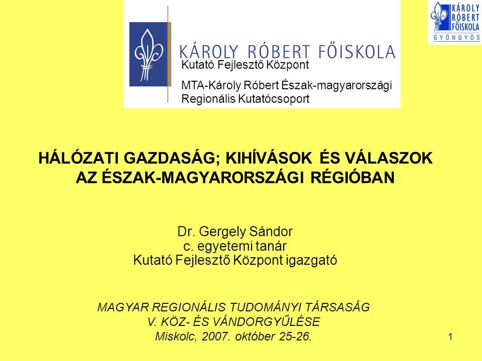 12 REGIONÁLIS INNOVÁCIÓS TRANSZFERKÖZPONTOK Innovációs rendszer elemei az Észak-Magyarország régióban Innovációs szervezet neveSzervezet feladata Észak- Magyarországi Regionális Innovációs Ügynökség Észak-Magyarország régió gazdasági versenyképesség javítás, az innováció gyorsítás, a regionális innovációs klaszter kialakítás; régió innovációs szereplői informálás innováció diffúzió Miskolci Egyetem Innovációs és Technológia Transzfer Centrum Miskolci Egyetem Innovációs és Technológia Transzfer Centrum (Miskolc) Technológiai transzfer  Szabadalmaztatás segítése  Partnerkeresés találmány, know-how, használati minta, ipari minta és szabadalom hasznosítására  Új technológiák közvetítése Innováció elősegítése  Innovatív kezdő vállalkozók támogatása  Szponzorok, tőkebefektetők, az innováció felhasználók felkutatása  Kapcsolattartás az innovációs szféra szereplőivel PR tevékenység és szolgáltatás Szakértői és tanácsadói szolgáltatások 7.