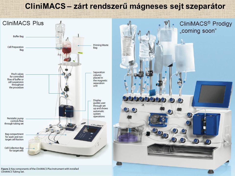 """CliniMACS – zárt rendszerű mágneses sejt szeparátor CliniMACS ® Prodigy """"coming soon"""" CliniMACS Plus"""