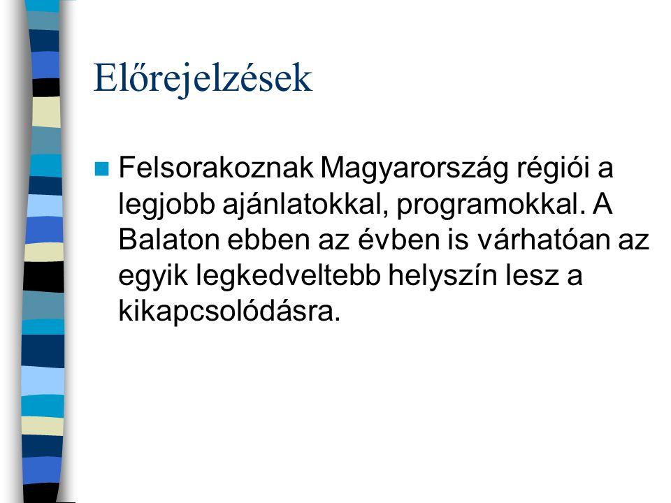 Előrejelzések Felsorakoznak Magyarország régiói a legjobb ajánlatokkal, programokkal.