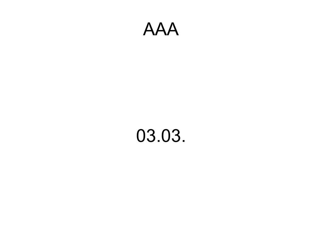 AAA 03.03.