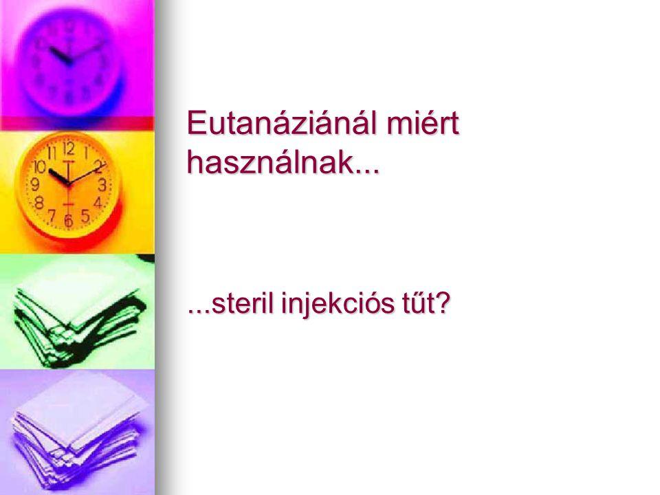 Eutanáziánál miért használnak......steril injekciós tűt?