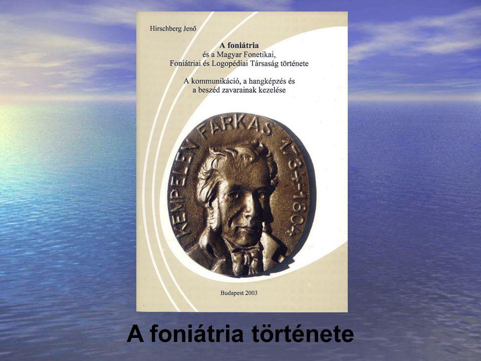 A foniátria története