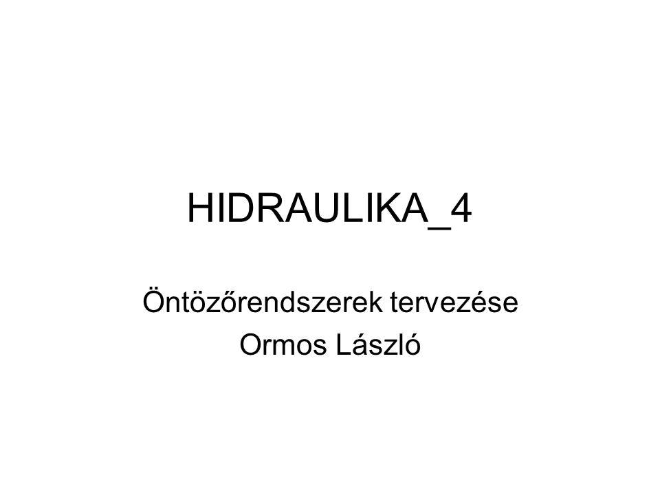 HIDRAULIKA_4 Öntözőrendszerek tervezése Ormos László