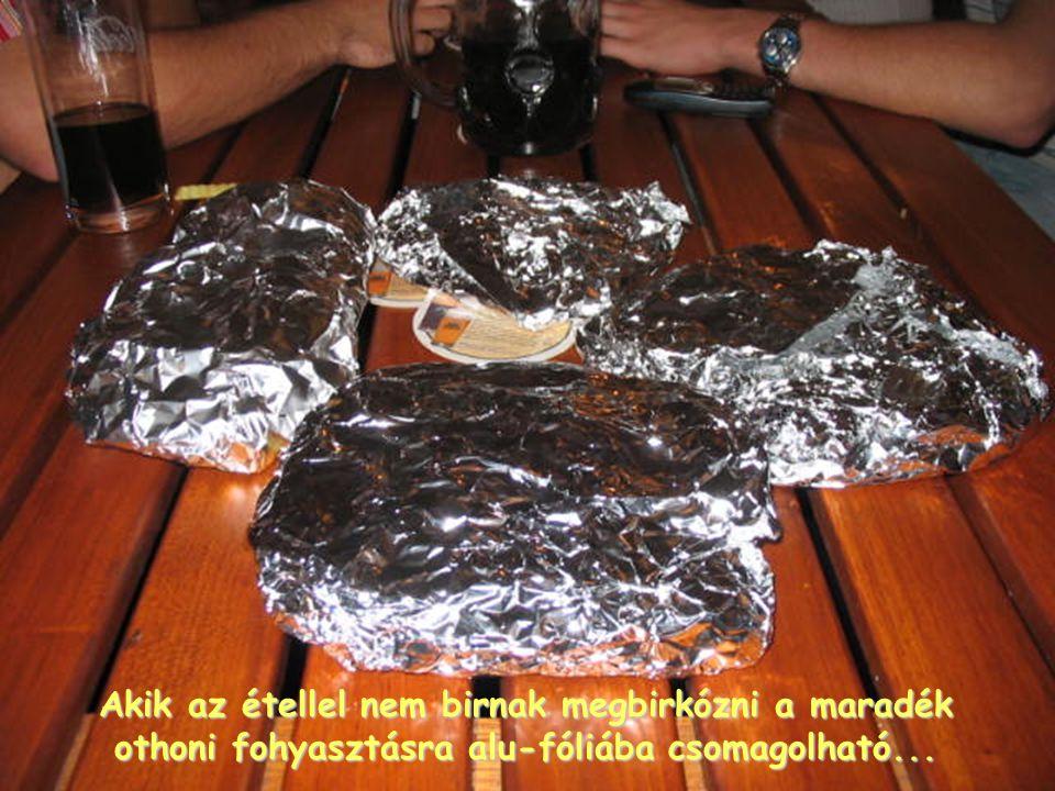 Akik az étellel nem birnak megbirkózni a maradék othoni fohyasztásra alu-fóliába csomagolható...