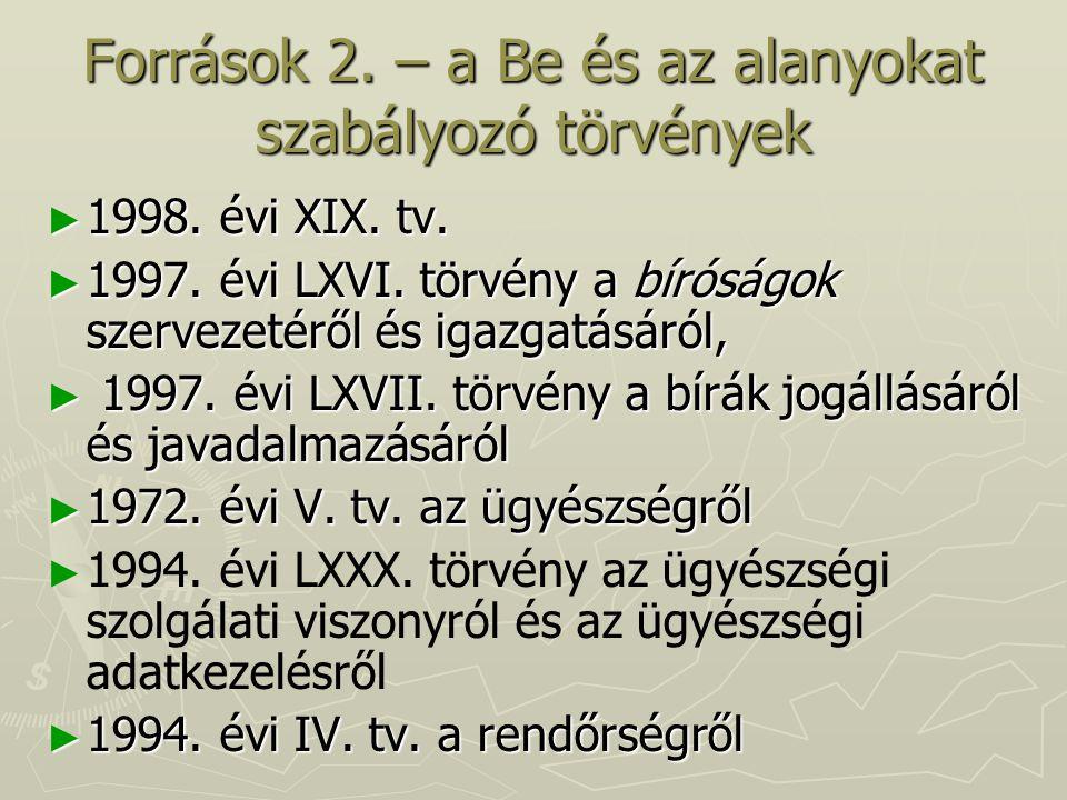 Források 3.– kapcsolódó jogszabályok ► 2001. évi LXXXV.
