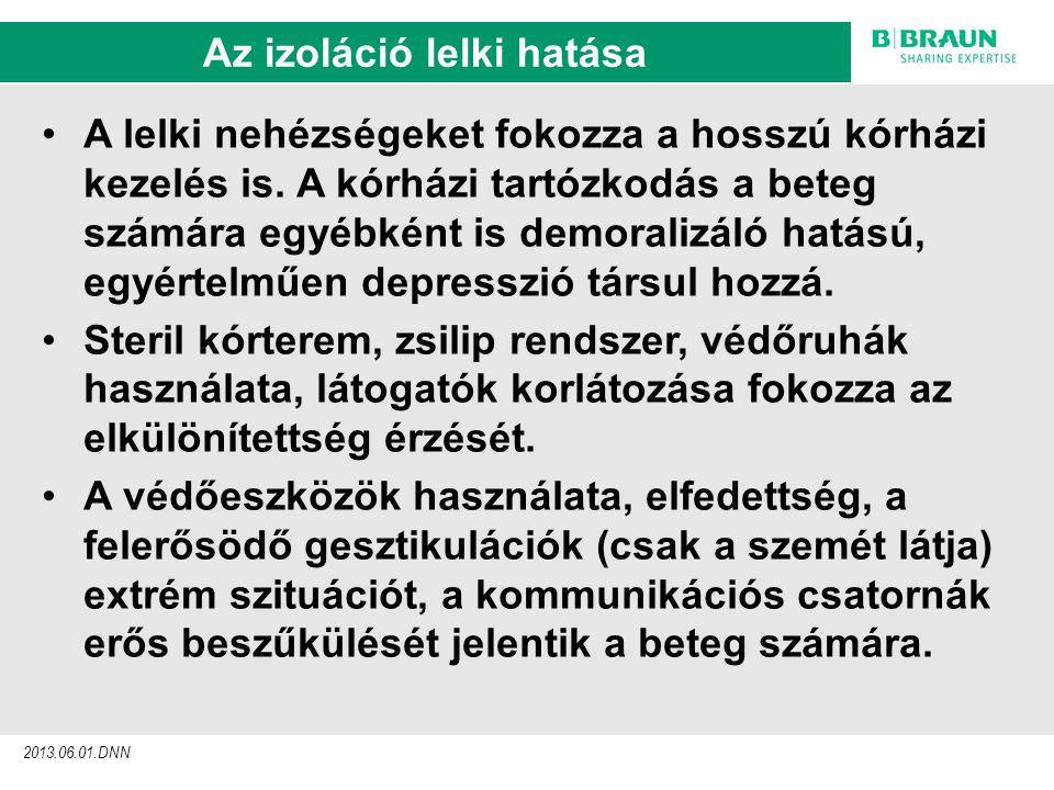 sl | Page7 Az izoláció lelki hatása 2013.06.01.DNN A lelki nehézségeket fokozza a hosszú kórházi kezelés is.