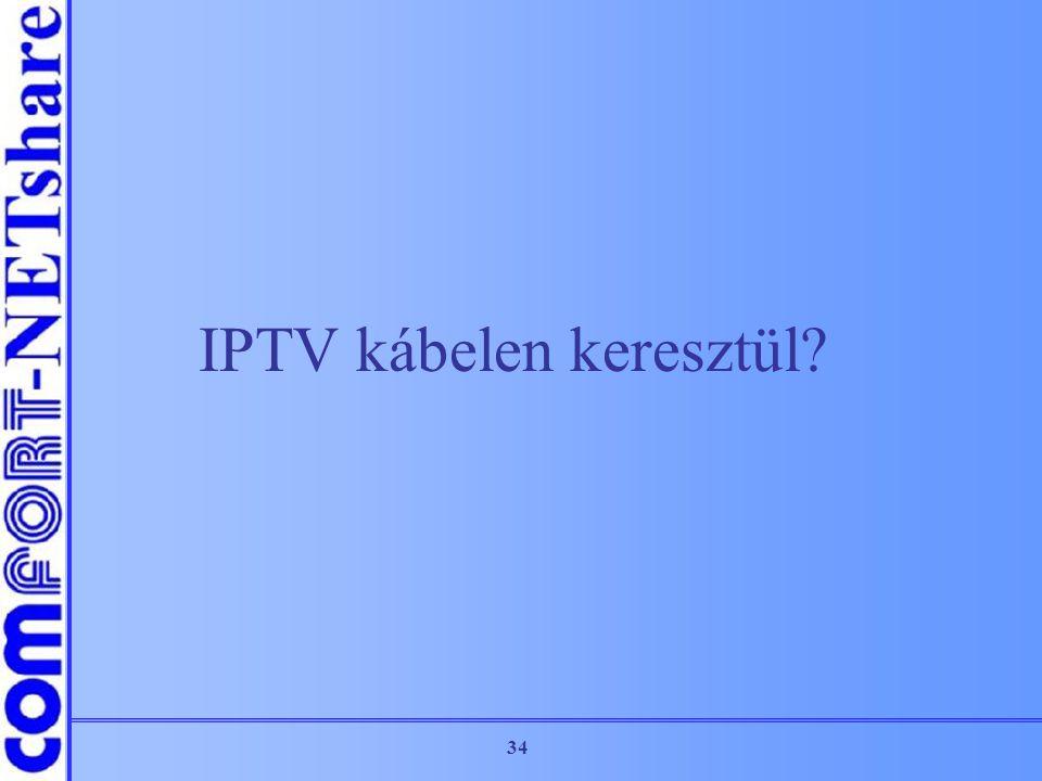 34 IPTV kábelen keresztül?