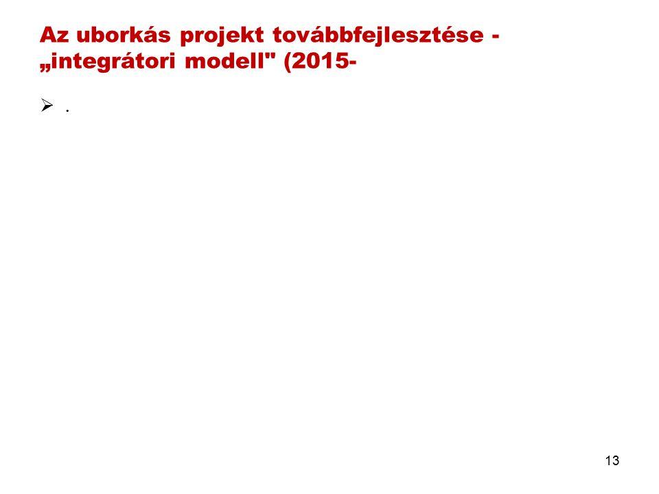 """Az uborkás projekt továbbfejlesztése - """"integrátori modell (2015- .. 13"""
