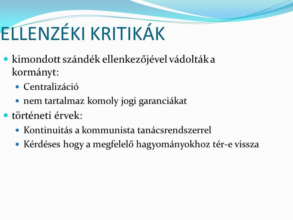 Előzmények és célok A Magyar Köztársaság Országgyűlése 1996.